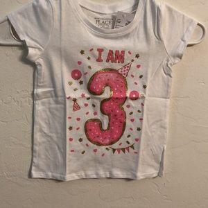 """The Children's Place 4T girls """"I am 3"""" T-s…"""
